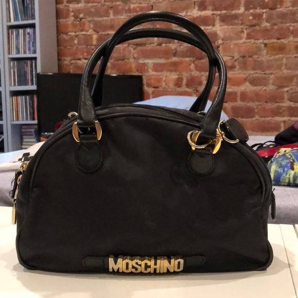 53f5e2c1a4 Moschino Bags | 90s Black Nylon Leather Crossbody Bag | Poshmark